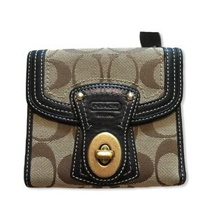 COACH Tan and Brown Wallet